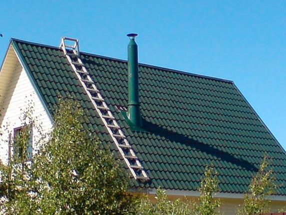 Цвет дымохода на крыше спутник дымохода